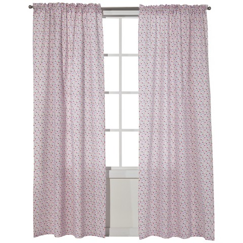 Bacati Pink/Purple Fairy Land Floral Curtain Panel