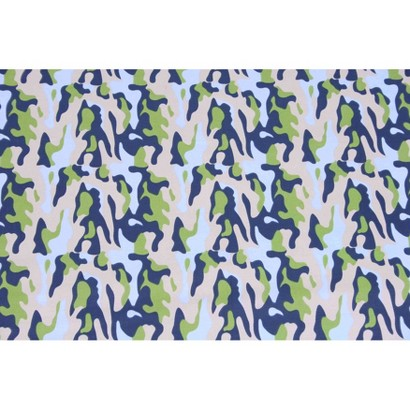 Bacati Blue/Green/Chocolate Camo Air Printed Crib fitted sheet