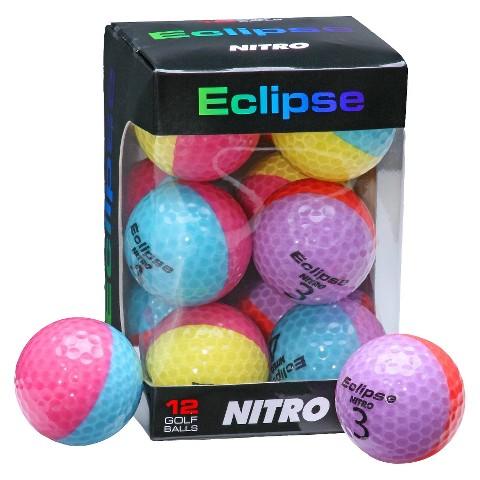 Nitro Eclipse 12 Pk Golf Balls-Assorted Colors