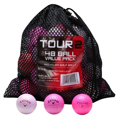 Mix Recycled 48 Pk Golf Balls-Pink