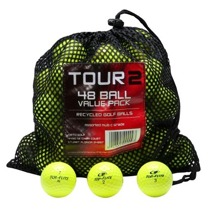 Mix Recycled 48 Pk Golf Balls-Yellow