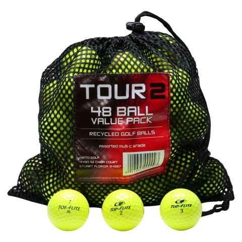 Mix Recycled 48 Pk Golf Balls-Yellow