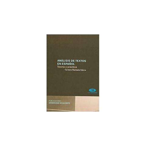 Analisis de textos en espanol/ Text Analysis in Spanish (Paperback)