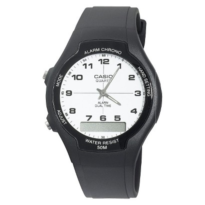 Casio Men's Classic Analog-Digital Watch - Black - AW90H-7B