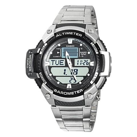 Casio Men's Twin-Sensor Combo Watch - Silver - SGW400HD-1B