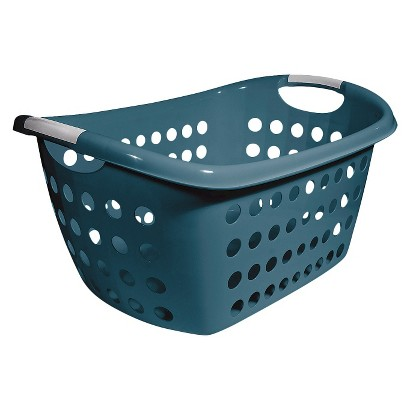 Home Logic 1.8 Bu. Rectangular Laundry Basket - Blue
