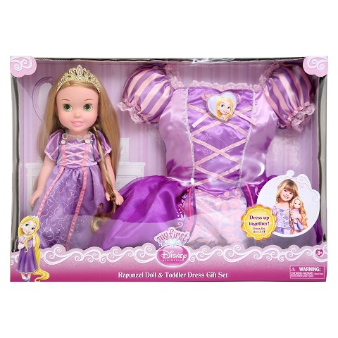 Disney Princess Rapunzel Doll & Toddler Dress Gift Set