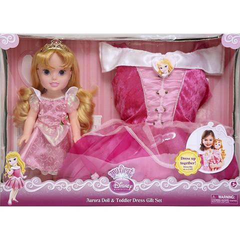 Disney Princess Aurora Doll & Toddler Dress Gift Set