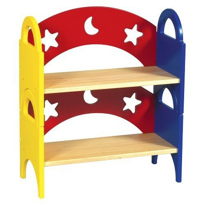 Guidecraft Moon & Stars Stacking Bookshelf Set Of 2