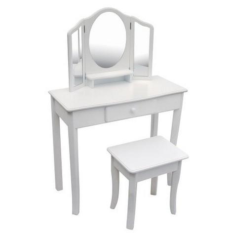 Guidecraft Classic Vanity and Stool - White