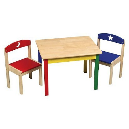Guidecraft Moon & Stars Table & Chair Set