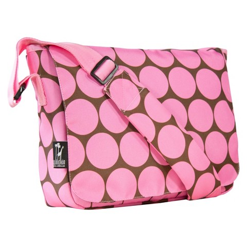 Wildkin Big Dots Kickstart Messenger Bag - Pink