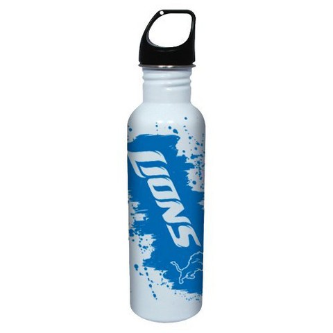 Detroit Lions Water Bottle - White (26 oz.)