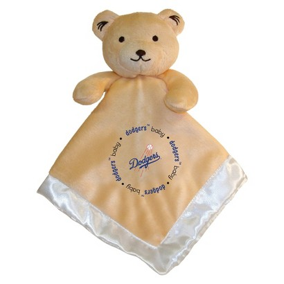 MLB Los Angeles Dodgers Snuggle Bear Baby Blanket