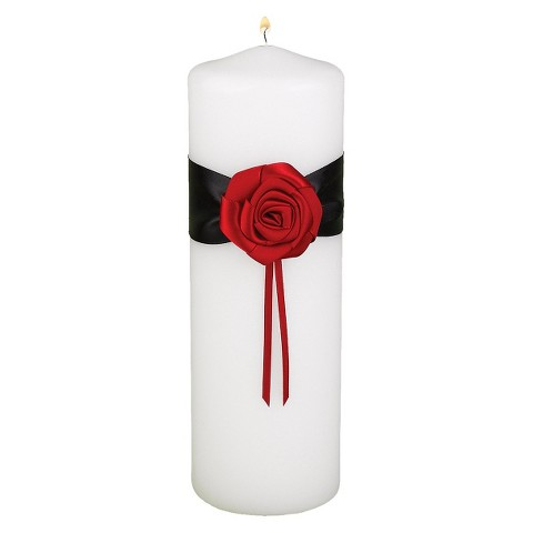 Midnight Rose Wedding Collection Unity Candle - Black