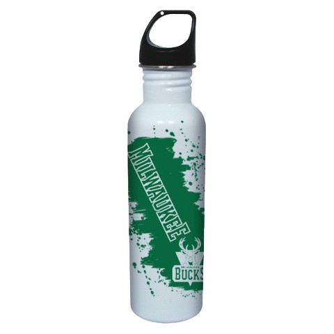NBA Milwaukee Bucks Water Bottle - White (26 oz.)