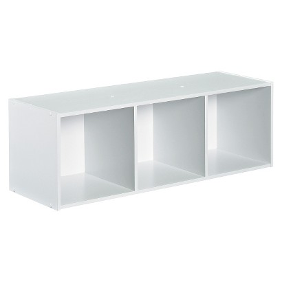 Closetmaid Cubeicals Stackable 3-Cube Organizer - White