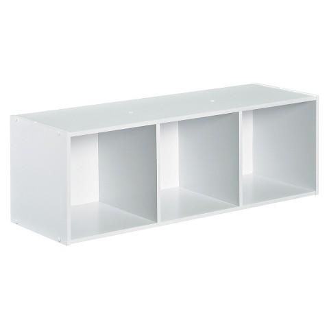 Closetmaid Cubeicals Stackable 3-Cube Organizer - White
