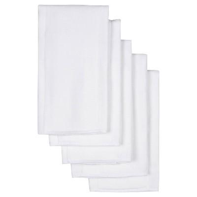 Gerber Newborn 5 Pack Birdseye Prefold Diapers - White
