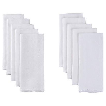 Gerber Newborn White Birdseye Flat-Fold Diapers 10-pk.
