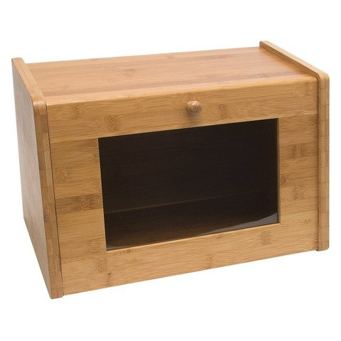 Lipper International Bamboo Bread Box with Window