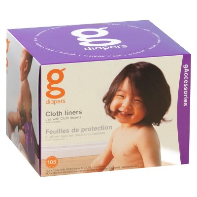 gDiapers Cloth Liners - 105 count
