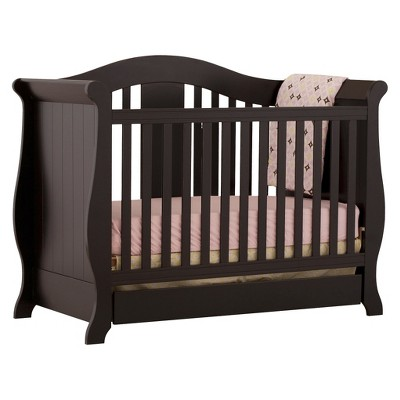 Stork Craft Vittoria 3-in-1 Convertible Crib - Black