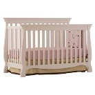 Stork Craft Venetian 4 in 1 Fixed Side Convertible Crib  - White