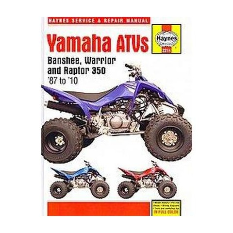 Haynes Yamaha Banshee, Warrior and Raptor 350 ATV (Hardcover)