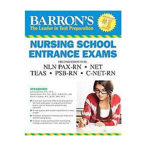 Barron's Nursing School Entrance Exams (Revised) (Paperback)