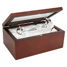 Stephan Baby Silver Rattle in Rosewood Box