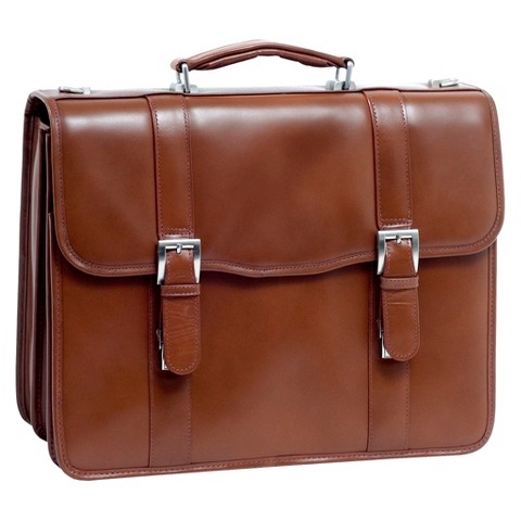 McKlein Leather Double Compartment Case - Brown