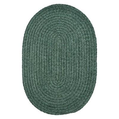 Forever Soft Soild Oval Chenille Rug - Myrtle Green (5x7')