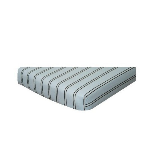 Blue & Chocolate Stripes Crib Sheet