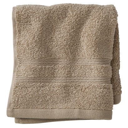 FIELDCREST® LUXURY WASH CLOTH - LIGHT TAUPE