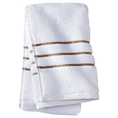Hand Towel - White/Taupe Stripe - Fieldcrest™