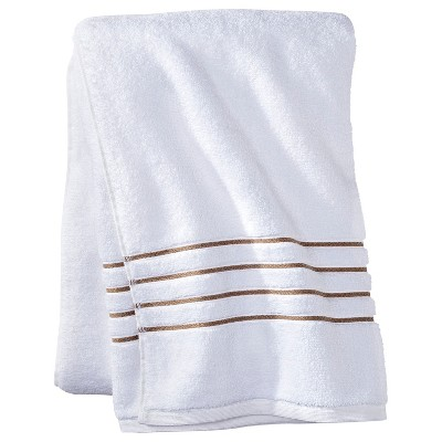 Bath Sheet - White/Taupe Stripe - Fieldcrest™