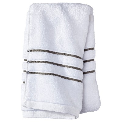 Hand Towel - White/Gray Stripe - Fieldcrest™
