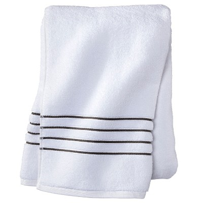 Bath Sheet - White/Gray Stripe - Fieldcrest™