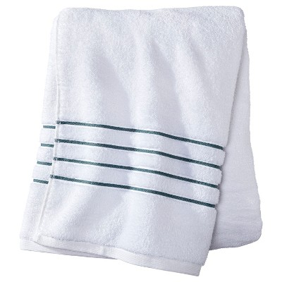 Fieldcrest® Luxury Bath Towel - White/Aqua Stripe