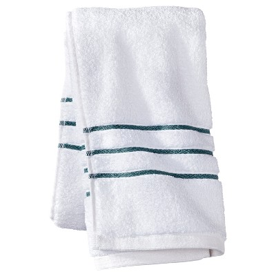 Hand Towel - White/Aqua Stripe - Fieldcrest™