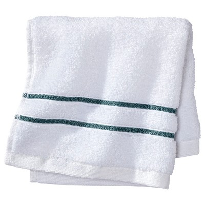 Wash Cloth - White/Aqua Stripe - Fieldcrest™