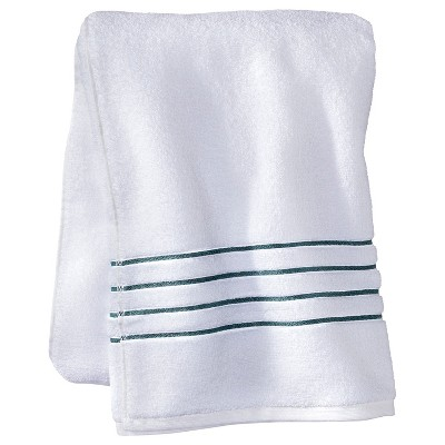 Fieldcrest® Luxury Bath Sheet - White/Aqua Stripe