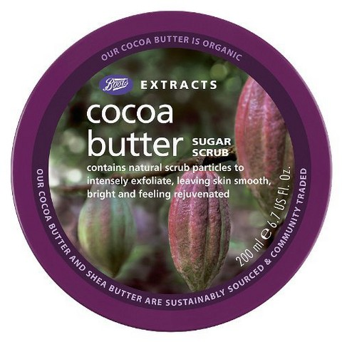 Boots Extracts Cocoa Butter Sugar Scrub - 6.7 oz