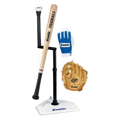 "Franklin Sports Teeball Set with Gloves 9.5"""