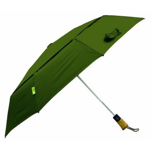 "Auto Open/Close Vented Compact Eco Umbrella -  Green 43"""