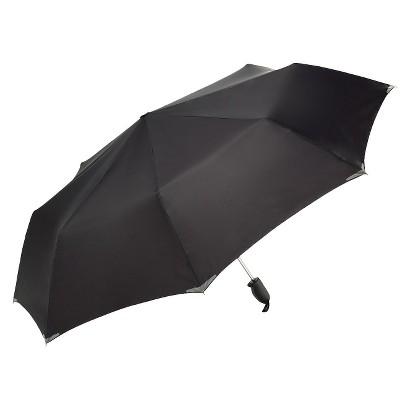 "WalkSafe Auto Open Reflective Jumbo Umbrella - Black 56"""