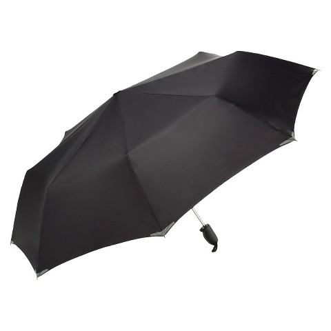 WalkSafe Auto Open Reflective Jumbo Umbrella - Black 56""