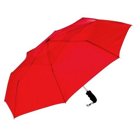 """Windjammer Auto Open Vented Umbrella - Red 44"""""""