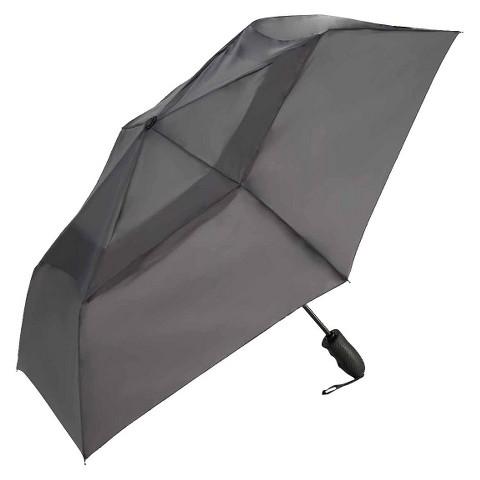 """Windjammer Auto Open/Close Vented Umbrella - Charcoal 43"""""""